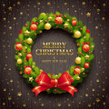 Christmas decorative wreath Royalty Free Stock Photography