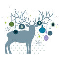 Christmas deer Stock Photos