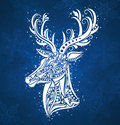 Christmas deer. Royalty Free Stock Images