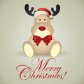 Christmas deer abstract background with special objects Stock Images