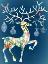 Christmas deer with decorations Royalty Free Stock Images