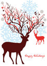 Christmas deer, vector Royalty Free Stock Images