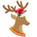 Christmas deer vector illustration Stock Photo