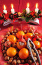 Christmas delicacies Stock Images