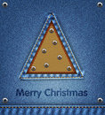 Christmas denim background Stock Image