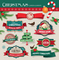 Christmas design elements cute fun Stock Photo