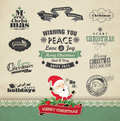 Christmas design elements set of Royalty Free Stock Photo