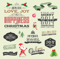 Christmas design elements set of Stock Images