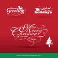 Christmas design elements set of Stock Photography