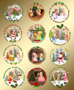 Christmas design elements set of different stuff Stock Photo