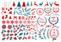 Christmas design elements, vector set Royalty Free Stock Photo