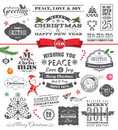 Christmas design elements vintage style Stock Photo