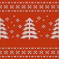 Christmas Design jersey textur with pine treese Royalty Free Stock Photo