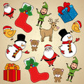 Christmas design over beige background illustration Royalty Free Stock Photos