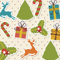 Christmas design over dotted background vector illustration Stock Images