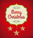 Christmas design over red background vector illustration Royalty Free Stock Image