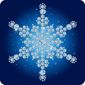 Christmas Diamond snowflake / vector illustration Royalty Free Stock Photo