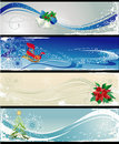 Christmas different banners Stock Photos