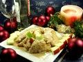 Christmas dinner Arkivbilder
