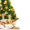 Christmas dinner border Royalty Free Stock Photo