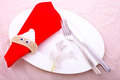 Christmas Dinner Decor Royalty Free Stock Image
