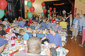 Christmas dinner geelong community for people in need cratering for over people Royalty Free Stock Image