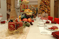 Christmas dinner set Royalty Free Stock Photo
