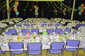 Christmas dinner set up and ready for geelong community for people in need cratering for over people it was a fantastic meal with Royalty Free Stock Photography