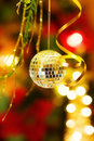 Christmas disco ball decoration Stock Photography