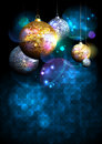 Christmas disco balls background with copy space for text, party concept, invitation Royalty Free Stock Photo