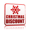 Christmas discount, banner with snowflake symbol Stock Photography