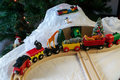 Christmas train set with African animals Royalty Free Stock Photo