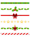Christmas Dividers Set [3] Royalty Free Stock Image