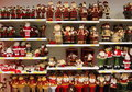 Christmas dolls variety of on shelves Stock Photography