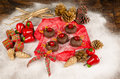 Christmas donuts in reindeer shape a creative festive treat for kids Royalty Free Stock Images