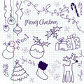 Christmas doodle Stock Photography