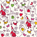 Christmas doodle seamless pattern Royalty Free Stock Photography