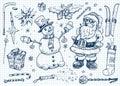 Christmas doodle set