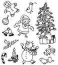 Christmas doodles Royalty Free Stock Photos