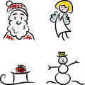 Christmas Doodles Royalty Free Stock Images
