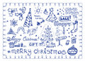 Christmas doodles / vector illustrations set Stock Images