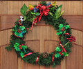 Christmas door decoration Royalty Free Stock Images
