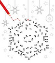 Christmas dot game Stock Photos