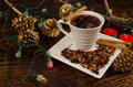 Christmas drink hot in a still life with decoration Royalty Free Stock Photography