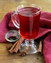 Christmas drink mulled wine tea with cinnamon and star anise Royalty Free Stock Photo