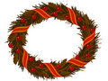 Christmas dry Holly wreath Stock Image
