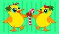 Christmas Ducks Dancing Royalty Free Stock Image