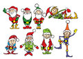 Christmas dwarf illustration composition of eight group separately vector format eps Stock Image