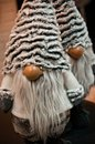 Christmas dwarves plush toys under Xmas tree Royalty Free Stock Photo