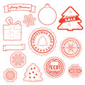Christmas and eco collection Stock Images